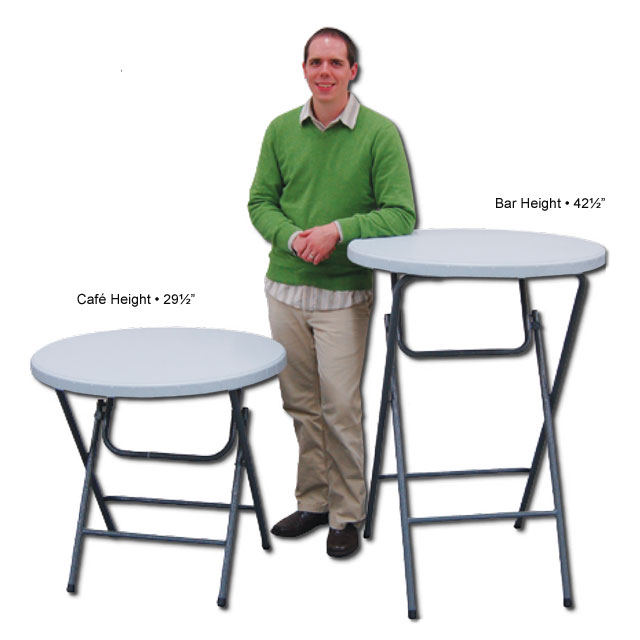 Counter Height Portable Table : Showgoer - Bar Height Round Table - Epic Displays Inc.
