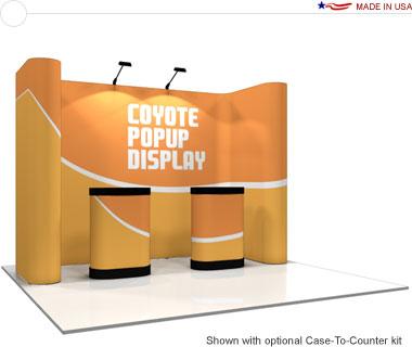 Coyote™ • 11′ Horseshoe Pop Up Display • Graphic Mural Kit