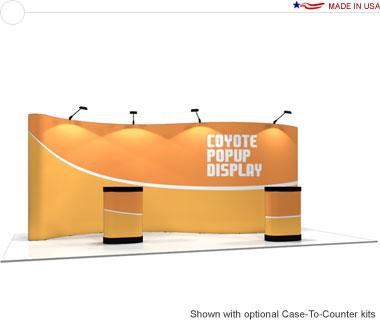 Coyote™ • 20′ Serpentine Pop Up Display • Graphic Mural Kit