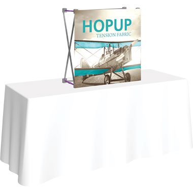 Hop Up™ 1×1 Tabletop Display with Front Graphic