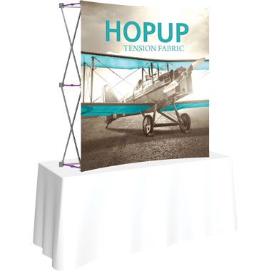 Hop Up™ 2×2 Curved Tabletop Display with Front Graphic