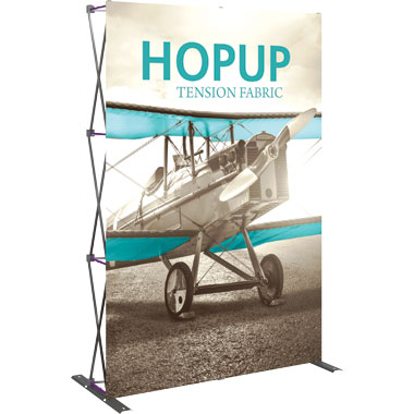 Hop Up™ 2×3 Straight Pop Up Display with Front Graphic