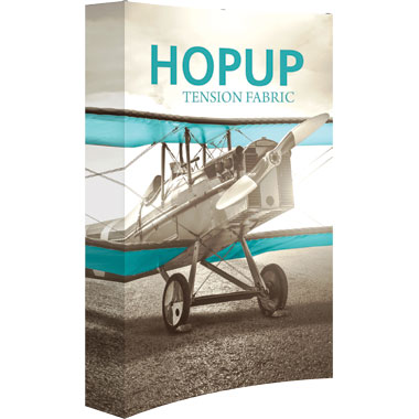 Hop Up™ 2×3 Curved Pop Up Display with Full Fitted Graphic