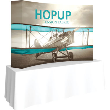 Hop Up™ 3×2 Curved Tabletop Display with Full Fitted Graphic