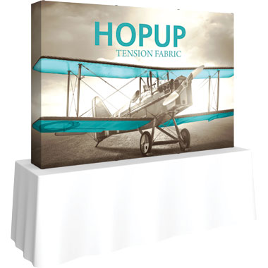 Hop Up™ 3×2 Straight Tabletop Display with Full Fitted Graphic