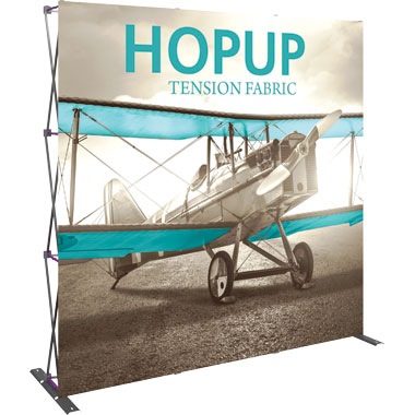 Hop Up™ 3×3 Straight Pop Up Display with Front Graphic