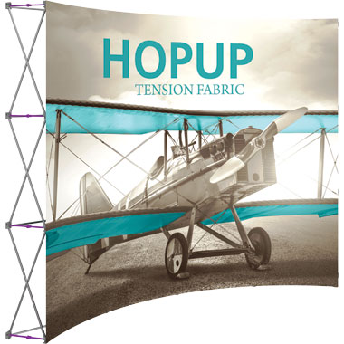 Hop Up™ 4×3 Curved Pop Up Display with Front Graphic