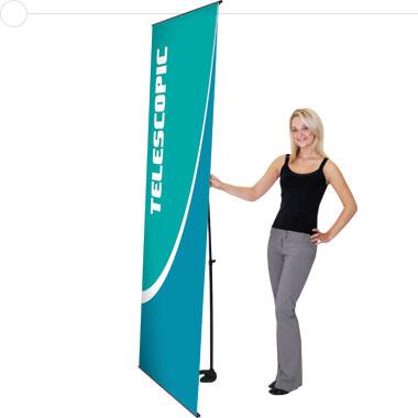 Uno Mega™ Telescopic Banner Stand