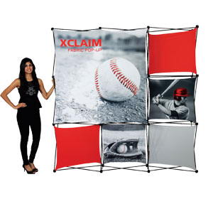 Xclaim™ Fabric Popup Display • 3×3 Kit 03
