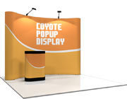Coyote™ • 10′ Curved Pop Up Display