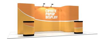 Coyote™ • 17′ Horseshoe Pop Up Display