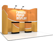 Coyote™ • 11′ Horseshoe Pop Up Display
