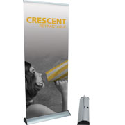 Crescent™ Retractable Banner Stand