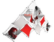 Xclaim™ Fabric Popup Display • 10 Quad Pyramid Kit 03