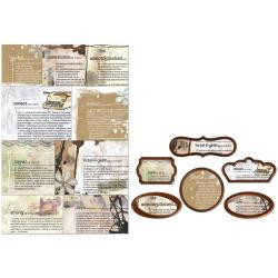 Prima Life Time Collection, Decorative Frames, 6 Frames plus background card, Scrapify, Australia