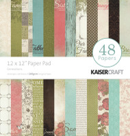 Kaisercraft 12 x 12in Paper Pad, Generations, 48 pages, Scrapify, Australia