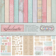 7 Dots Studio, Soulmates Collection, Collection Kit, 12 x 12 pages, inc stickers, die cut elements sheet, Scrapify, Australia