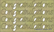 Imaginarium Designs, chipboard words,Congratulations, Scrapify, Australia