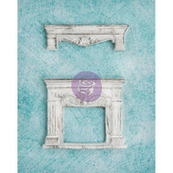Prima, Shabby Chic Treasures, Resin, 2pc, Fireplace and Shelf, Scrapify, Australia
