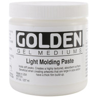 Golden Light Molding Paste, 8oz Jar, Scrapify, Australia