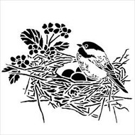 "The Crafter's Workshop Stencils 6""x6"" - Bird Nest, Scrapify, Australia"