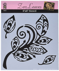 "Hot off the Press, Stencils 6""x 6"", Zen Leaves, Scrapify, Australia"