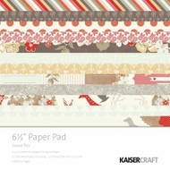Kaisercraft  6.5in, Paper Pad, Sweet Pea, Design paper, 40 Page Pad, 2x12 sheets Designed Paper, 12xSpecialty Papers, 4xDie Cut Pages, Scrapify, Australia
