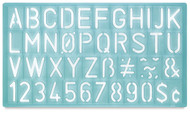 C THRU 1 1/8in lettering guide, Uppercase, Scrapify, Australia