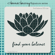 Donna Downey Signature Series Stencils, find your balance, 8.5 x 8.5in, Scrapify, Australia