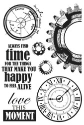 Kaisercraft,  Clear Stamps, Time Machine, 10x15cm, Scrapify, Australia