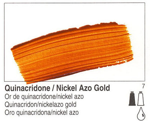 Golden, Fluid Acrylics, Artist Quality, Quinacridone Nickel Azo Gold, 2301, 4 fl.oz Scrapify, Australia