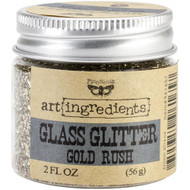 Prima, Finnabair, art ingredients, Glass Glitter, Gold Rush, 2 fl oz, Scrapify, Australia