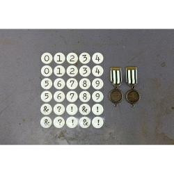 Prima Marketing Timeless Memories Metal Embellishments Recalled Numbers, Scrapify, Australia