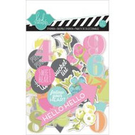 Heidi Swapp Favorite Things Ephemera Die-Cuts Cardstock & Clear, 127pc, Scrapify, Australia