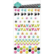 Heidi Swapp, Favorite Things Puffy Gloss Stickers Shapes, Scrapify, Australia