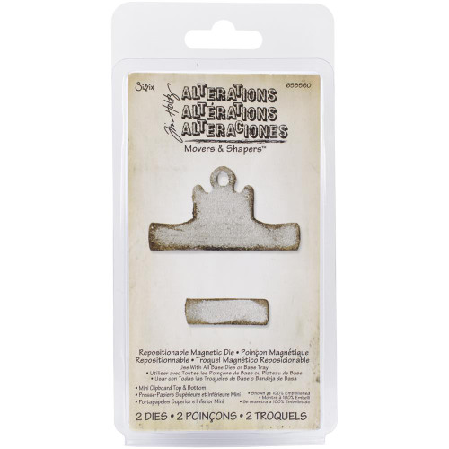 Sizzix Tim Holtz Alterations, Movers & Shapers Magnetic Dies, mini clipboard, 2 pc, Scrapify, Australia