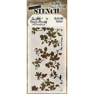 Tim Holtz Collection -  Stampers Anonymous - Layered Stencils - Blossom, Scrapify, Australia