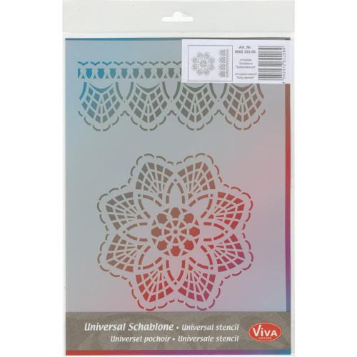 "Viva Decor, Universal Stencil, Doily Element and Border, 11- 5/8""x8-1/4"", Scrapify, Australia"
