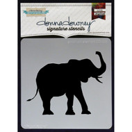 Donna Downey Signature Series Stencils, Good Luck Elephant, 8.5 x 8.5in, DD025, Scrapify, Australia