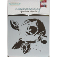 Donna Downey Signature Series Stencils, La Rose, 8.5 x 8.5in, DD072, Scrapify, Australia