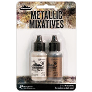Tim Holtz, Ranger, Adirondack, Alcohol Ink, Metallic Mixatives, Pearl/Copper 15ml. 2 Pkt, Scrapify, Australia