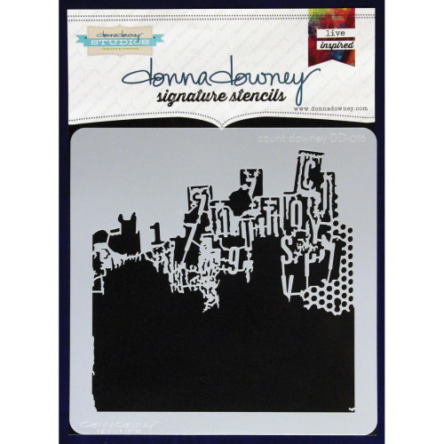 Donna Downey Signature Series Stencils - Count Downey DD016, Scrapify, Australia