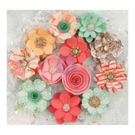 "Prima Marketing Flowers - Sweet Peppermint Flowers 12/Pkg, Holiday Kisses; Paper 1.5"", Scrapify, Australia"