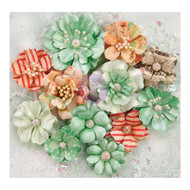 "Prima Marketing Flowers - Sweet Peppermint Flowers 12/Pkg, Holiday Greetings; Paper 1"" To 2"", Scrapify, Australia"