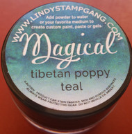 Lindy's Stamp Gang - Pigment Powders - Magicals - tibetan poppy teal, Scrapify, Australia