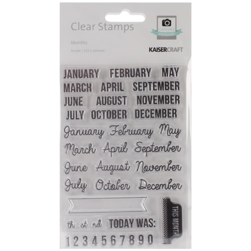 Kaisercraft, Clear Stamps Captured moment,Months, Scrapify, Australia