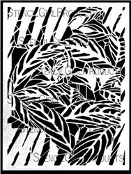 "Stencil Girl,  Stencil 9""x12"",Its a jungle out there, L451 , Cecilia Swatton, 9 x 12, Scrapify, Australia"
