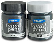 Derivan Liquid Pencil, Grey Gray 9, 40mls, Scrapify, Australia