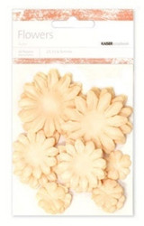 Kaiser scrapbook Paper Flowers ,asst sizes , Approx 60 , Ivory, Scrapify, Australia