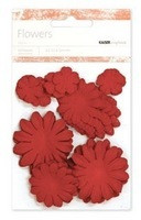 Kaiser scrapbook Paper Flowers ,asst sizes , Approx 60 , Poppy, Scrapify, Australia